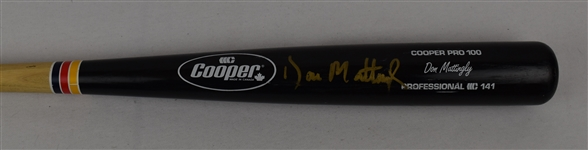 Don Mattingly Game Issued Autographed Bat w/Puckett Family Provenance