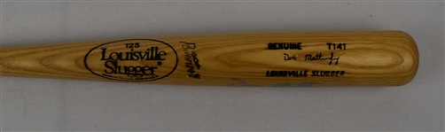 Don Mattingly New York Yankees Game Issued Autographed Bat w/Puckett Family Provenance