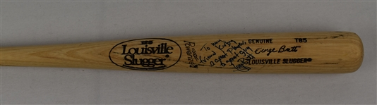 George Brett Game Issued Autographed & Inscribed Bat w/Puckett Family Provenance