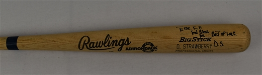 Darryl Strawberry 1988 New York Mets Game Used & Autographed Bat w/Puckett Family Provenance