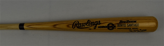 Benito Santiago Game Used & Autographed Bat w/Puckett Family Provenance