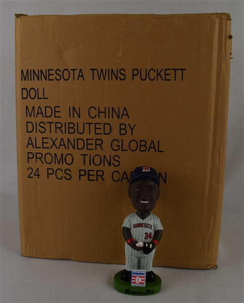 Kirby Puckett Case of 24 Hall of Fame Bobbleheads w/Puckett Family Provenance