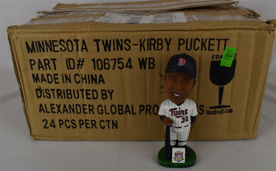 Kirby Puckett 1987 World Series Bobbleheads w/Puckett Family Provenance