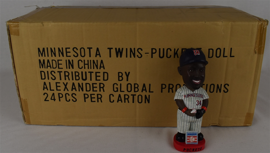 Kirby Puckett HOF Red Base Bobbleheads w/Puckett Family Provenance