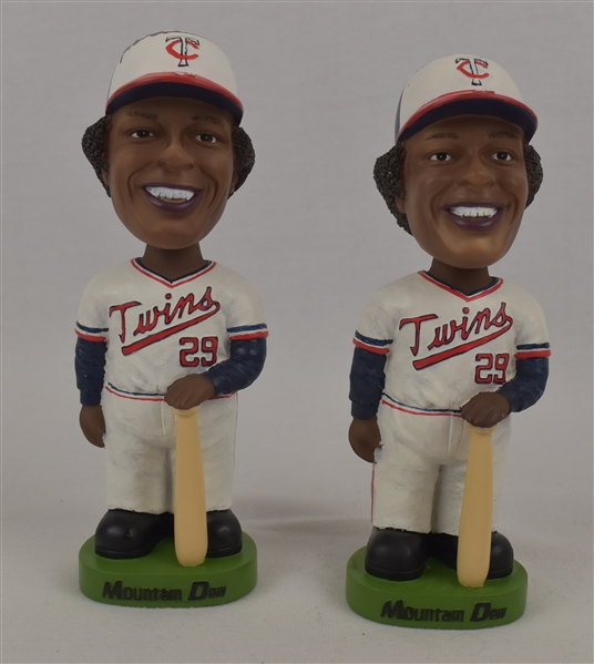Rod Carew Lot of 2 Autographed Bobbleheads w/Puckett Family Provenance