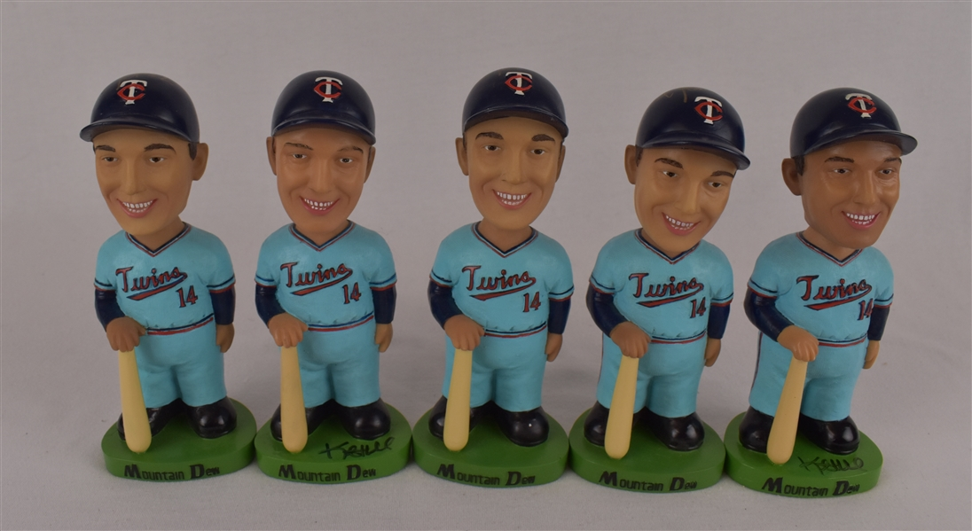 Kent Hrbek Lot of 5 Autographed Bobbleheads w/Puckett Family Provenance