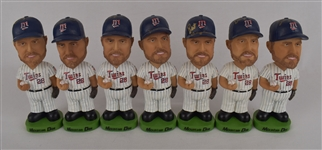 Bert Blyleven Lot of 7 Autographed Bobbleheads w/Puckett Family Provenance