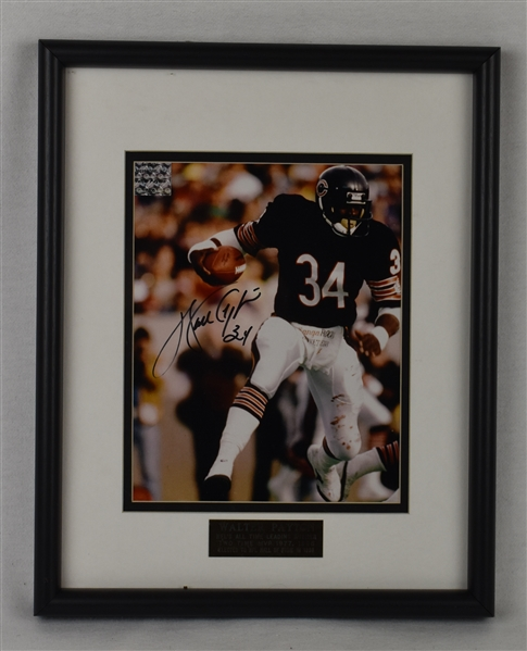 Walter Payton Autographed Photo w/Puckett Family Provenance