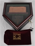 Kirby Pucketts 1939 Hall of Fame Brick Display w/Puckett Family Provenance