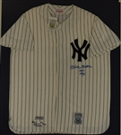 Mickey Mantle Autographed & Multi Inscribed Limited Edition Mitchell & Ness Jersey