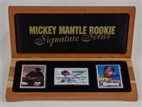 Mickey Mantle Autographed Rookie Signature Series Limited Edition Porcelain Card Set