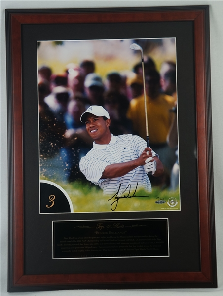 Tiger Woods Autographed Top 10 Shots #3 Limited Edition Framed Photo UDA
