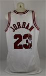 Michael Jordan Autographed Limited Edition Painted Home White Jersey #11/23 UDA