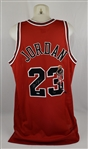 Michael Jordan Autographed Limited Edition Painted Road Red Jersey #11/23 UDA