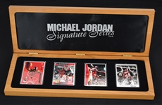 Michael Jordan Autographed Signature Series Limited Edition Porcelain Card Set UDA