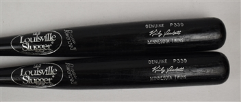 Kirby Puckett Lot of 2 Minnesota Twins P339 Game Issued Baseball Bats w/Puckett Family Provenance