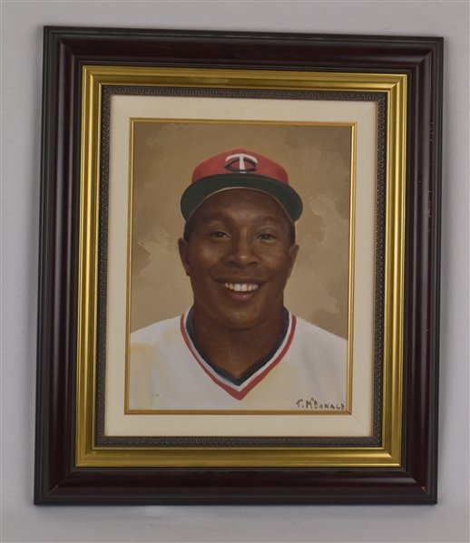 Kirby Puckett Original Painting w/Puckett Family Provenance
