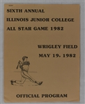 Kirby Puckett 1982 Triton College All-Star Game Program w/Puckett Family Provenance