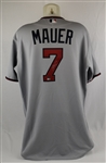 Joe Mauer 2011 Minnesota Twins Game Used Jersey Photomatched to Game Played 7/30/2011 w/Resolution LOA