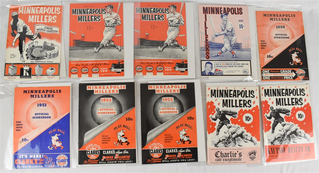 Minneapolis Millers 1940s-1950s Lot of 21 Programs