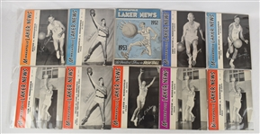Minneapolis Lakers Collection of 30 Vintage 1948-1952 Basketball Programs