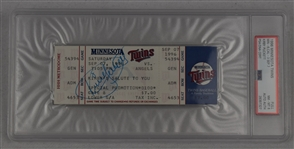 Kirby Puckett Autographed 1996 Ticket PSA/DNA