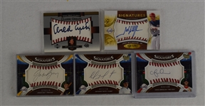 Collection of 5 Autographed Sweet Spot Cards