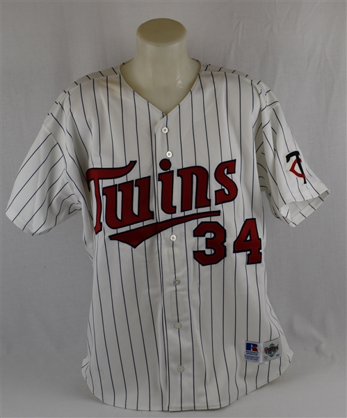 Kirby Puckett 1994 Minnesota Twins Game Used Jersey w/Puckett Family Letter