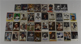 Collection of 38 Autographed Baseball Insert Cards