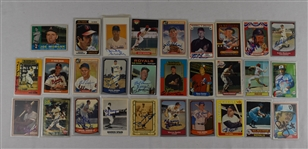 Collection of 29 Autographed Baseball Cards