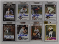 Collection of 8 Autographed Topps Chrome Cards