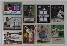 Collection of 9 Game Used & Autographed Cards
