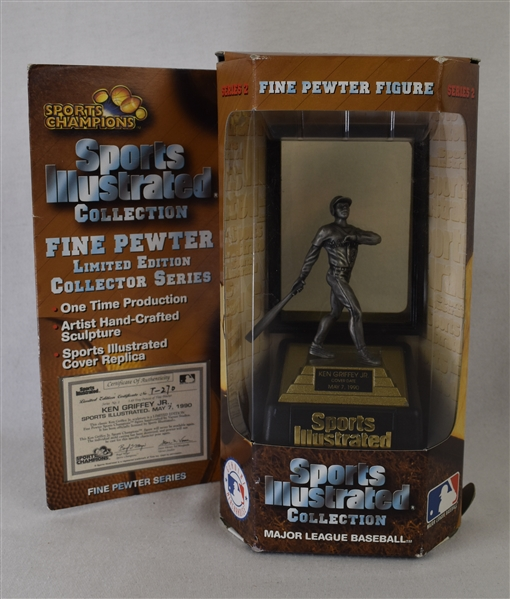 Ken Griffey Jr. 1990 Limited Edition Sports Illustrated Fine Pewter Figurine w/Puckett Family Provenance