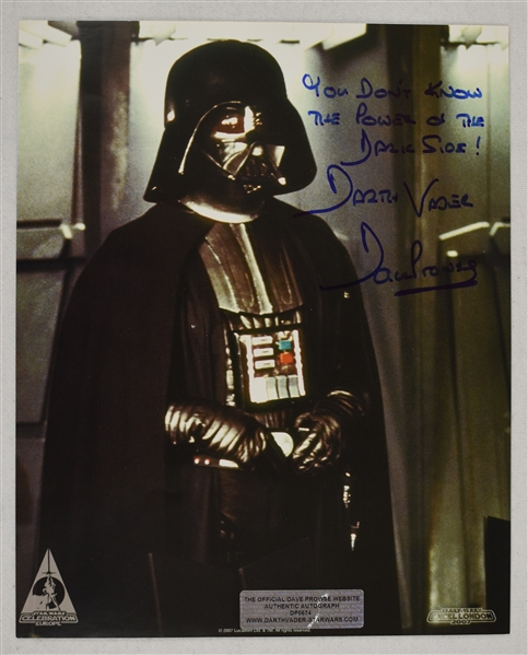 Dave Prowse Darth Vader Autographed 8x10 Photo