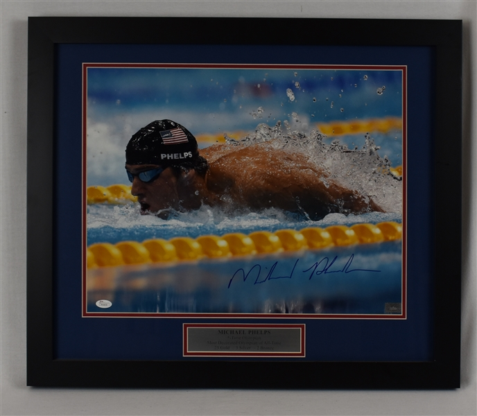 Michael Phelps Autographed Framed 16x20 Photo