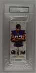 Adam Thielen Autographed 1st TD Game Ticket PSA/DNA