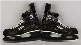 Team USA 1980 Olympic Gold Medal Team Signed Hockey Skates *RARE*