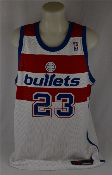Michael Jordan Autographed Turn Back The Clock Washington Bullets Jersey Limited Edition #53/100 UDA
