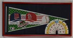 Minnesota Twins 1987 World Series Pennant & Tickets