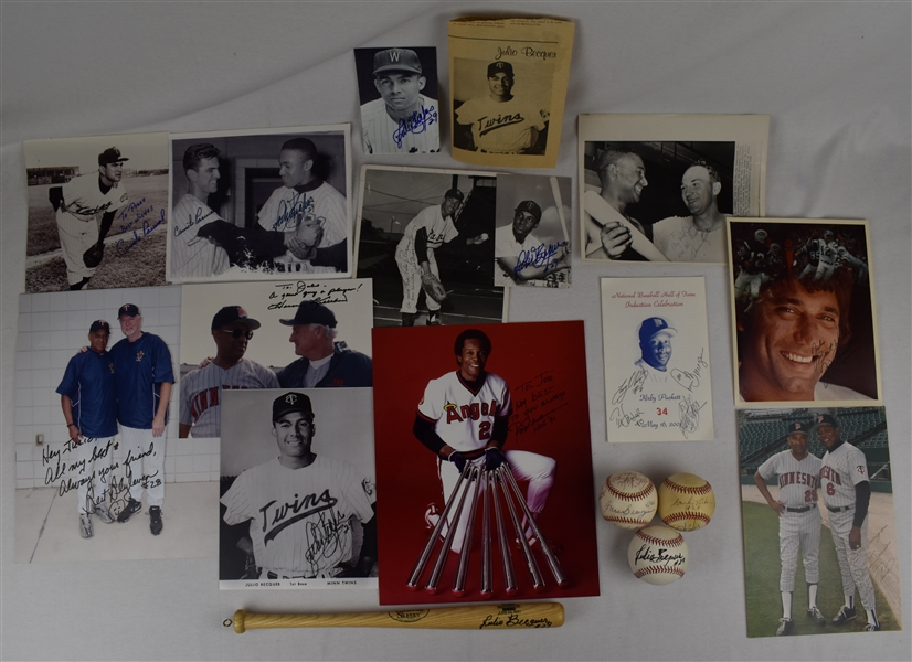 Julio Becquer Lot of 16 Autographed Personal Items w/Joe Namath