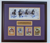Purple People Eater Autographed Panoramic Framed Rookie Card Framed Display