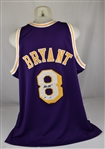 Kobe Bryant Autographed 1996-97 Mitchell & Ness Rookie Lakers Road NBA 50th Anniversary Jersey PSA/DNA & Beckett