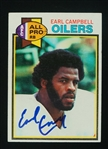 Earl Campbell Autographed 1979 Topps Rookie Card