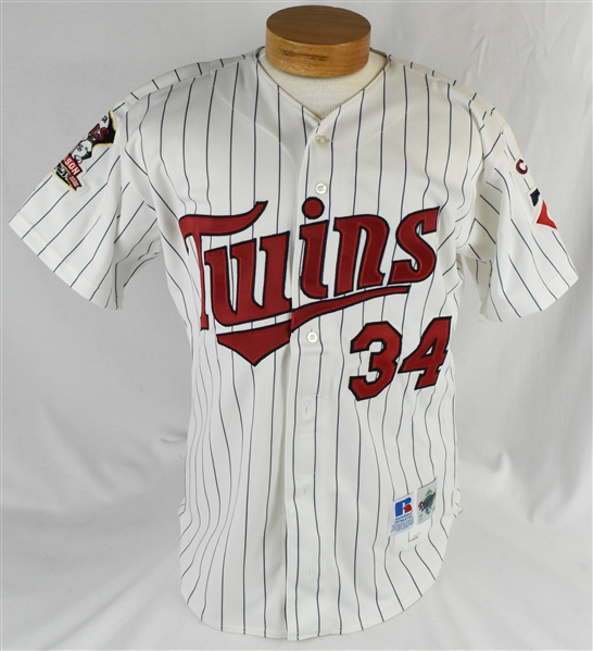 Kirby Puckett 2000 Minnesota Twins Jersey w/Puckett Family Provenance