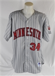 Kirby Pucketts Final 1996 Minnesota Twins Game Jersey w/Puckett Family Provenance