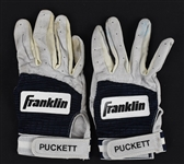 Kirby Puckett Game Used Batting Gloves w/Puckett Family Provenance