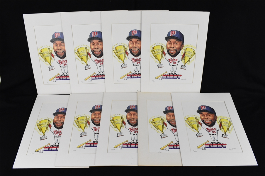 Kirby Puckett Collection of Limited Edition Lithographs w/Puckett Family Provenance
