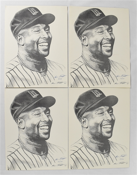Kirby Puckett Collection of Limited Edition Lithographs With 1 Framed & Puckett Family Provenance