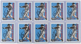Kirby Puckett Lot of 10 Autographed Cards w/Puckett Family Provenance
