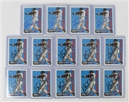 Kirby Puckett Lot of 14 Autographed Cards w/Puckett Family Provenance